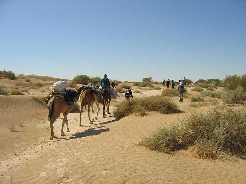 Image of bedouins in desert